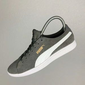 Gray Suede Puma Vikky sneakers shoes